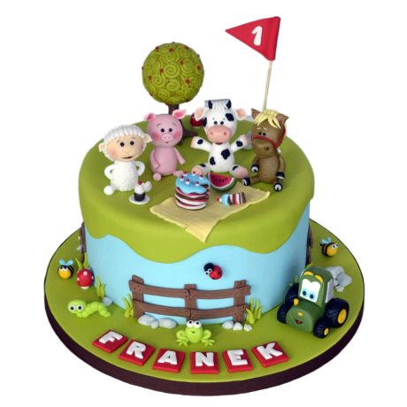 Farm animals cake 8