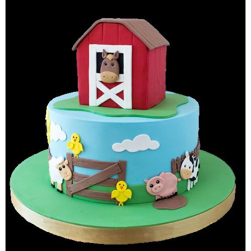 farm animals cake 9 7