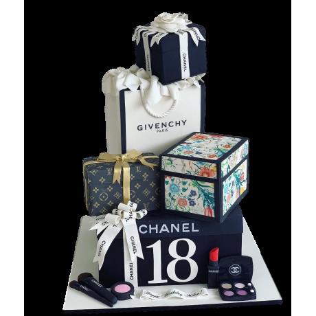 fashion theme cake 6