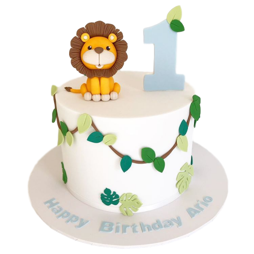 Jungle Birthday Cake with lion