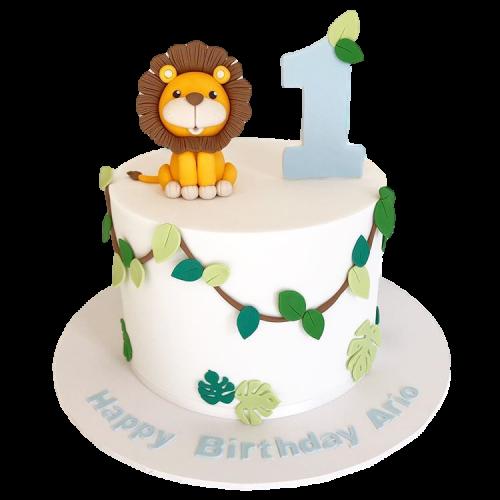 jungle birthday cake with lion 7