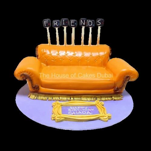 Friends coach cake