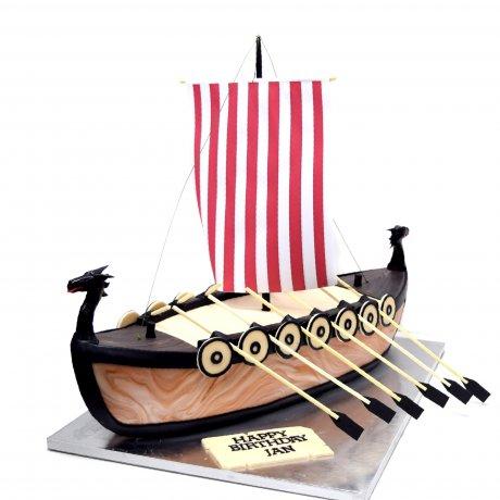 Frigate ship cake