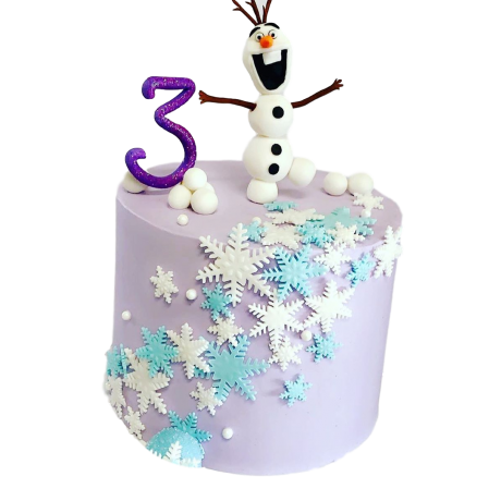 Frozen cake with Olaf 1