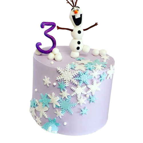 frozen cake with olaf 1 7