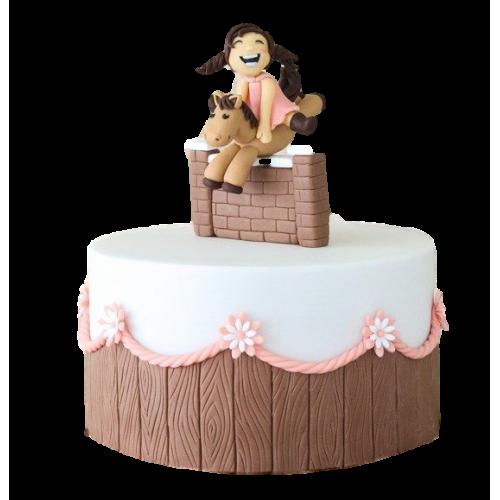girl & horse cake 7