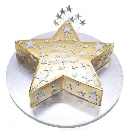 gold star cake 6