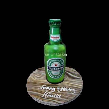 3d heineken beer bottle cake 6