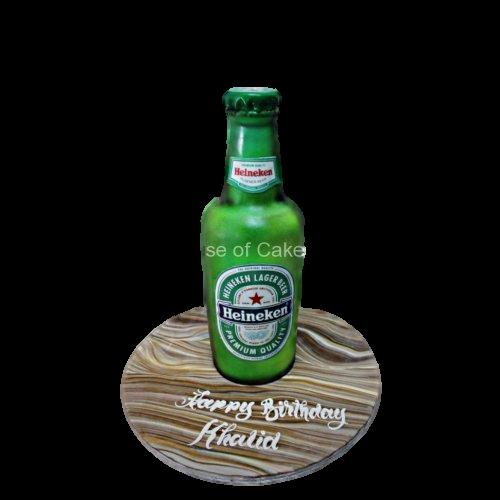 3d heineken beer bottle cake 7