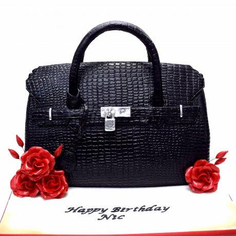 hermes birkin bag cake black 6