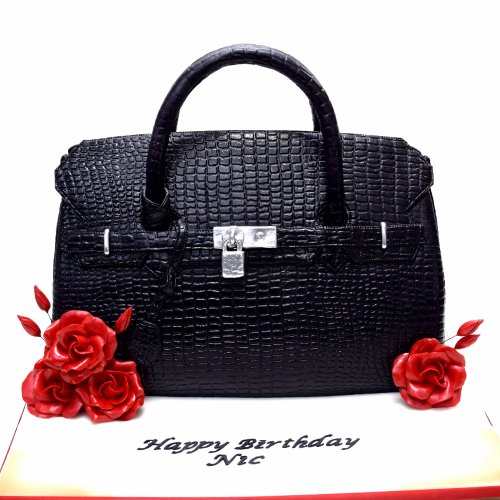 hermes birkin bag cake black 7