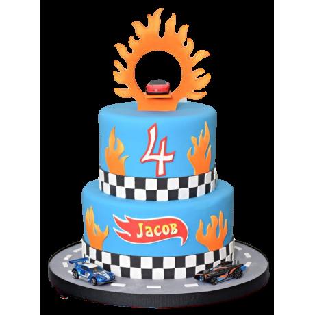 hot wheels cake 6