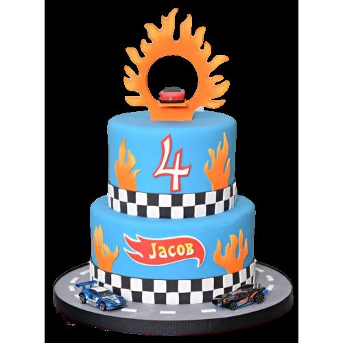 hot wheels cake 7