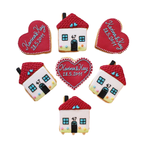 House shaped cookies