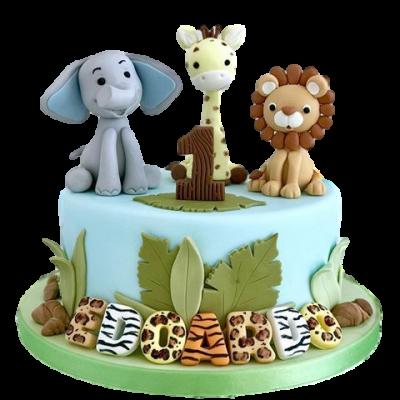 Jungle animals cake 17