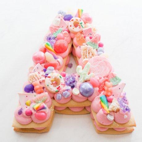 letter cake 3 6