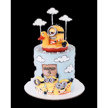 minion cake 6 12
