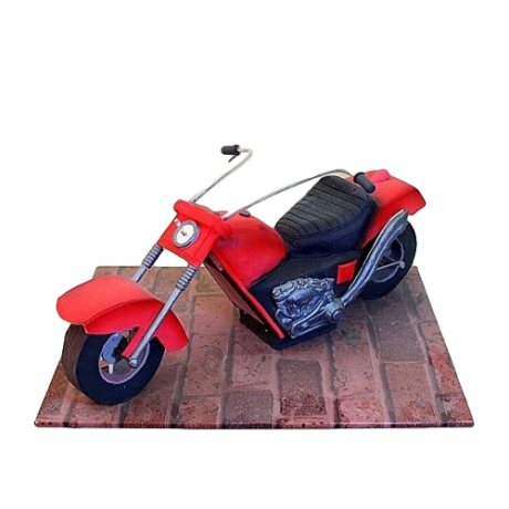 motorbike cake 6