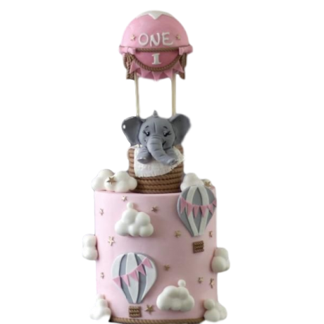 oh baby elephant cake 6
