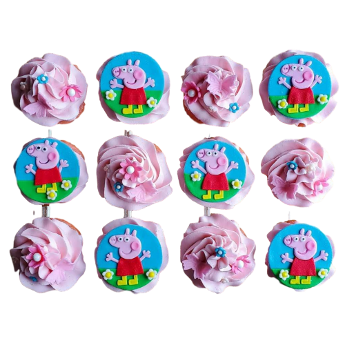 peppa pig cupcakes 7