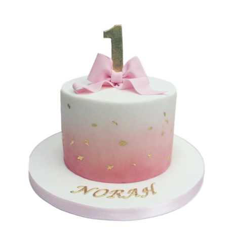 cake with pink bow 2 6