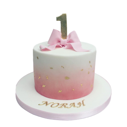 cake with pink bow 2 7