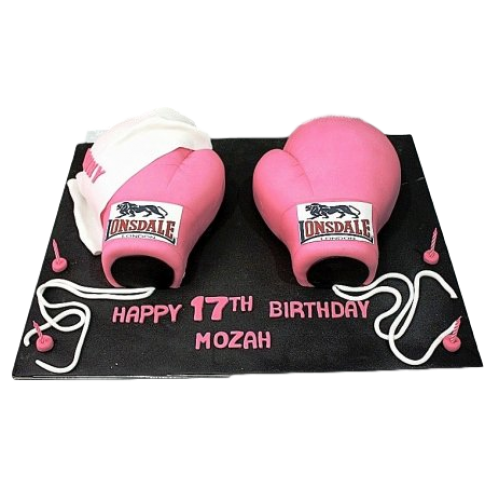 Pink Boxing Gloves cake