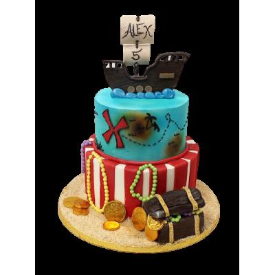 Pirate Ship Cake 3