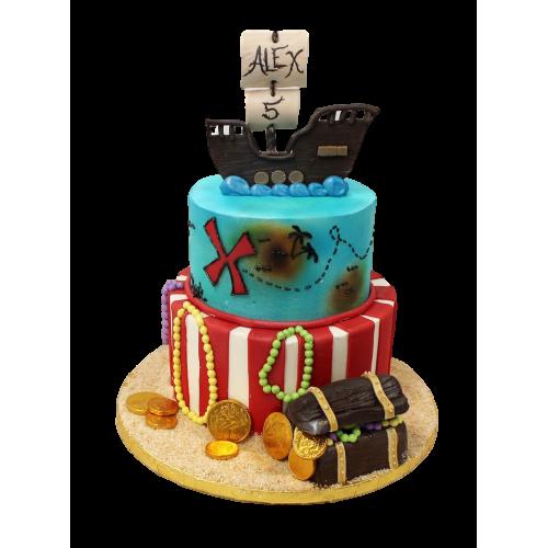 pirate ship cake 3 7