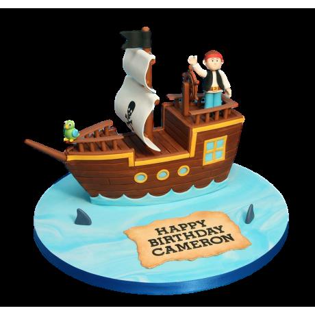 pirate ship cake 4 6