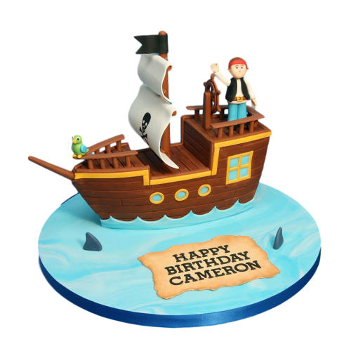 pirate ship cake 4 7