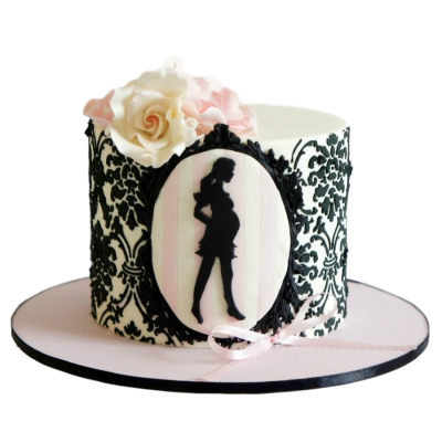 Pregnant and fabulous cake