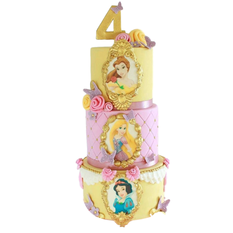 princesses cake 3 6