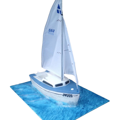 Sailing Boat Cake 2