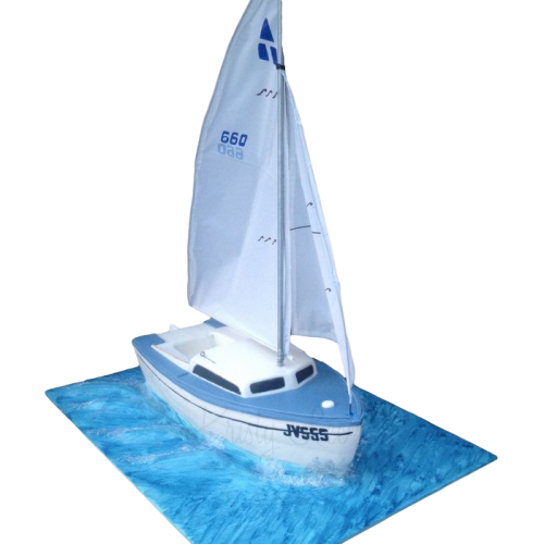 sailing boat cake 2 7