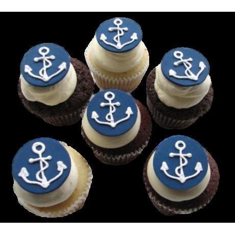 sailing theme cupcakes 12