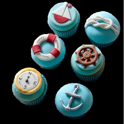 Sailing boat cupcakes 2