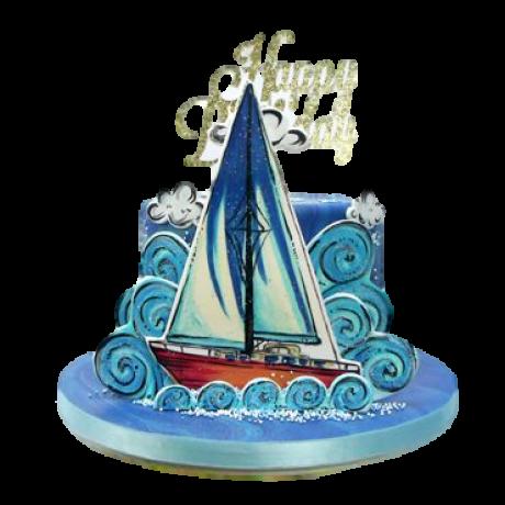 sailing theme cake 12