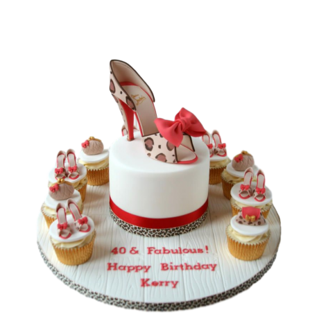 cake and cupcakes with shoes 2 6