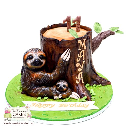 sloth cake 7