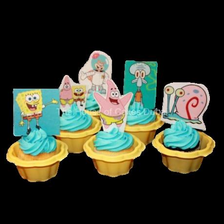 Sponge Bob & friends cupcakes