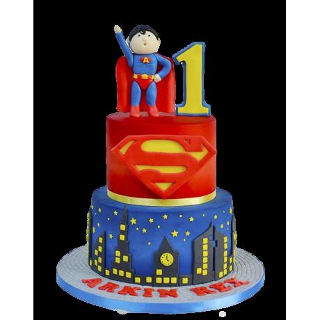 superman cake 6