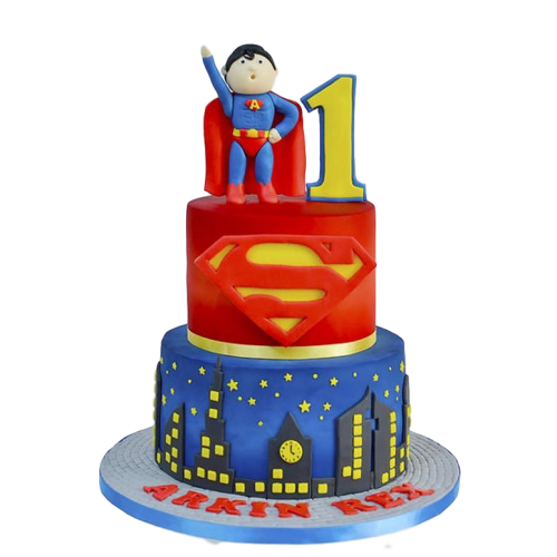 superman cake 7