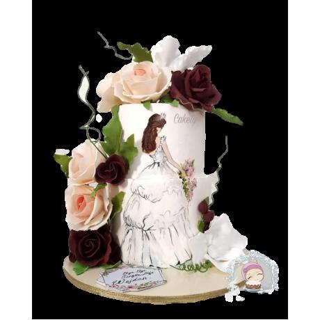 bridal dress cake 3 6