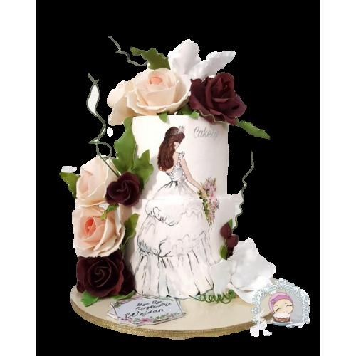 bridal dress cake 3 7