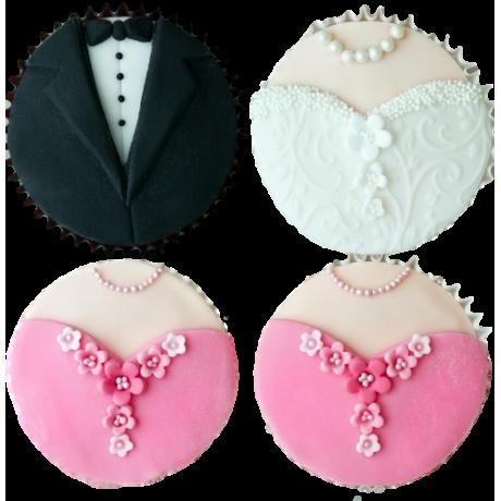 bridal dress cupcakes 6