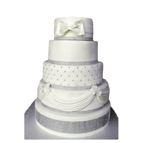 white and silver wedding cake 6