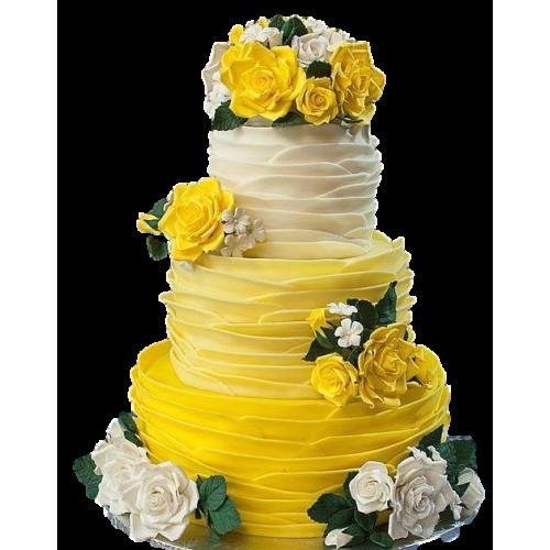 yellow ruffles cake 7