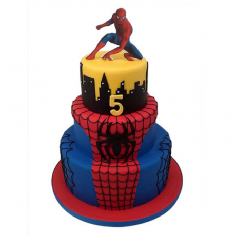 spiderman cake 4 6