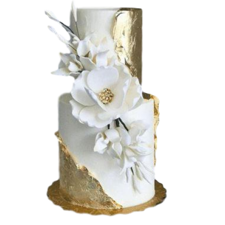 elegant wedding cake with peonies and roses 12